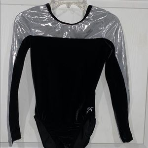 GK Elite Velour Foil Leotard